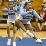 St. Francis Intermediate cheerleaders competed.