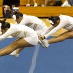 Sacred Hearts Varsity cheerleaders competed.