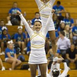 Sacred Hearts Vasity cheerleaders competed.