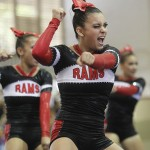 Makeala Cachola and other members of Radford's squad perform during the competition.