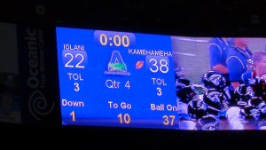 A decisive victory for No. 2 Kamehameha over No. 9 'Iolani. (Paul Honda / Star-Advertiser)