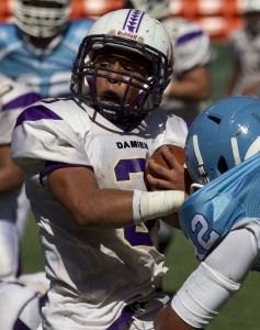 Trevor Caspillo leads Damien in rushing yards. Honolulu Star-Advertiser photo by Cindy Ellen Russell