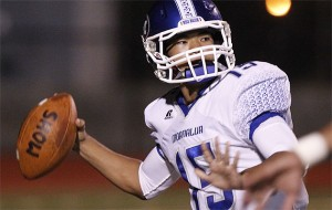 Moanalua quarterback Micah Kaneshiro has put up big numbers in 2013.