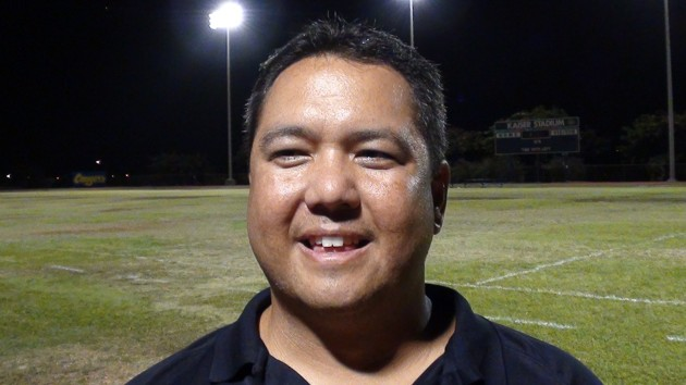 Anuenue coach Kealoha Wengler is taking a look at 8-man football for his program. (Paul Honda / Star-Advertiser)