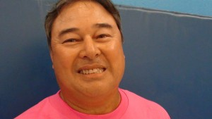 Tommy Lake, Moanalua coach, Oct. 26, 2013. (Paul Honda / Star-Advertiser)