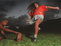 Kalaheo's Jessica Kisor in 1997. (Dennis Oda / Star-Advertiser)