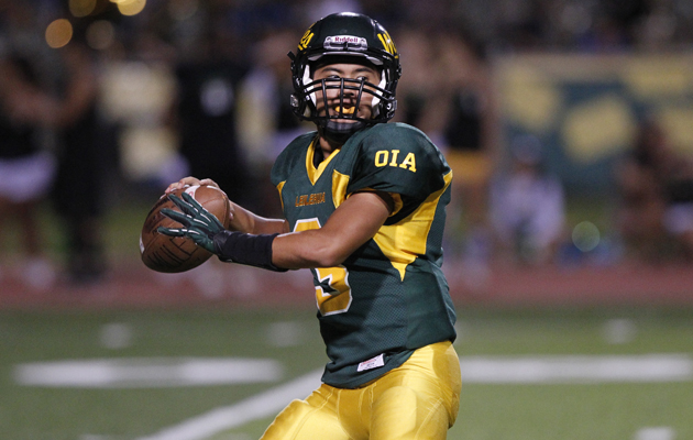 Justin Jenks has played well recently at quarterback for Leilehua. (Star-Advertiser file)