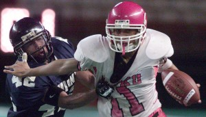 Spencer Hafoka caught six passes for 133 yards in a game against Farrington in 2003.