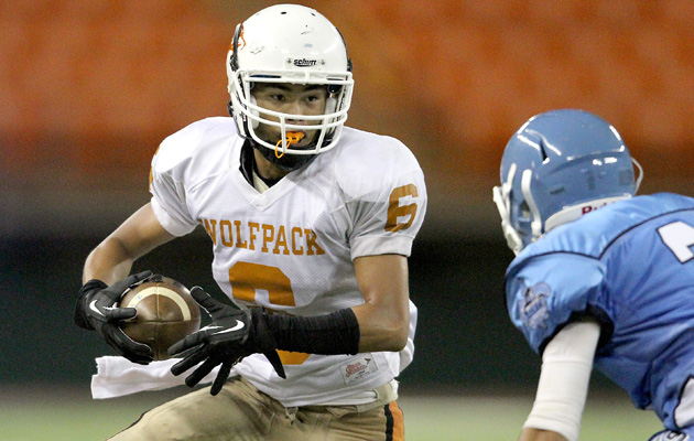 Pac-Five's Tsubasa Brennan had seven catches for 137 yards and a touchdown in a win over St. Francis last Friday.