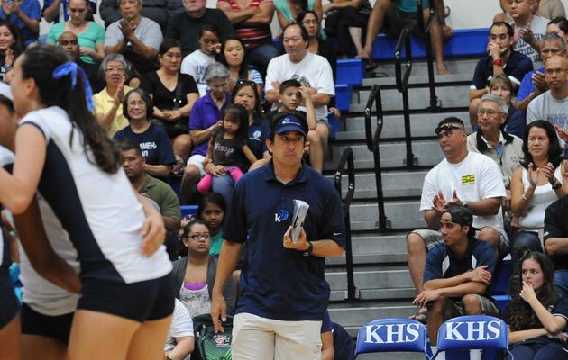 Kamehameha coach Chris Blake. (Rick Ogata / Special to the Star-Advertiser)