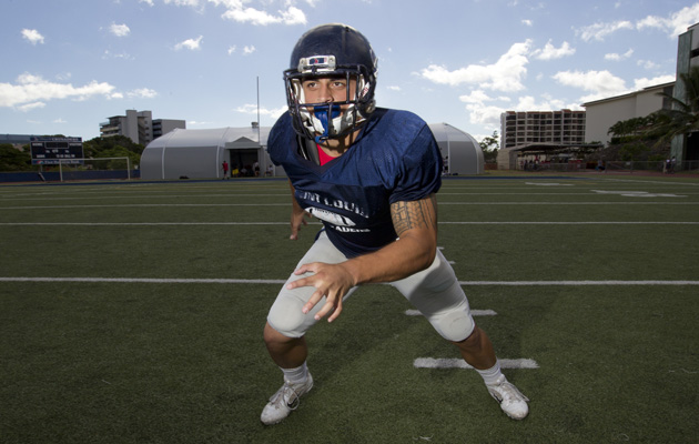 Saint Louis' Jacob Lacaden is the ILH defensive player of the year. (Cindy Ellen Russell / Star-Advertiser)