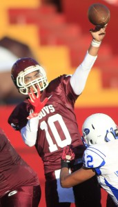 Farrington quarterback Montana Liana has played in his share of big games for the Governors, but he is still waiting for his first championship. Honolulu Star-Advertiser Photo by Krystle Marcellus.