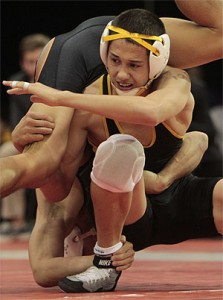 Mililani's Braydon Akeo remains the man to beat in his weight class. (Jamm Aquino/The Honolulu Star-Advertiser).