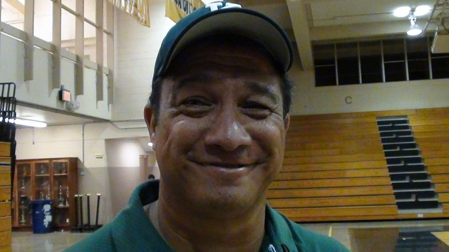 Longtime club coach Ainsley Keawekane guided Konawaena to a state title in his first season as varsity coach. (Paul Honda / Star-Advertiser)