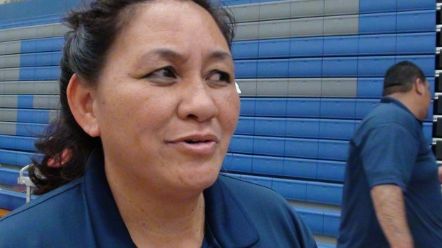 Waianae coach Cyrilla Manuel. (Paul Honda / Star-Advertiser)