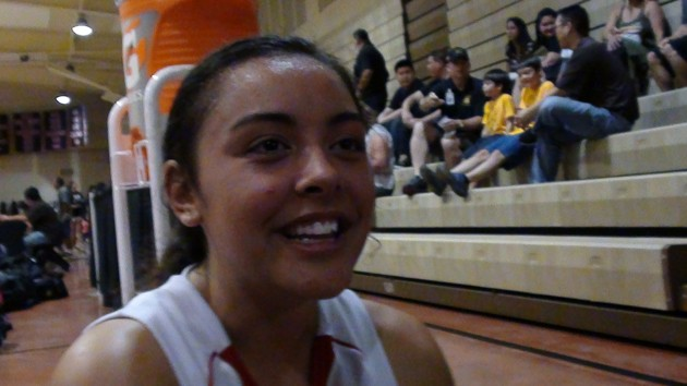 Devyn Kauhi was big for Roosevelt in a semifinal win over Kailua. (Paul Honda / Star-Advertiser)