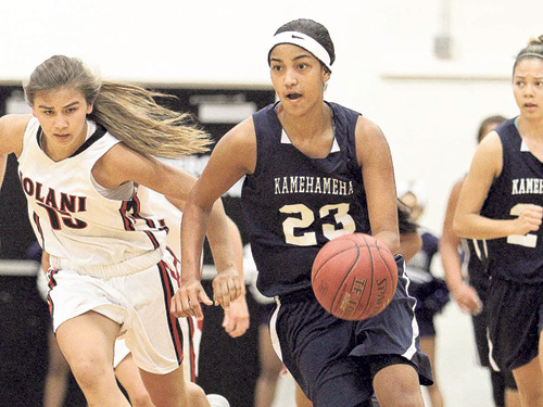 Kamehameha senior Alohi Robins-Hardy. (Jay Metzger / Special to Star-Advertiser)