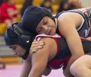 Pac-Five's Shannon Paaaina will be going for an elusive state title at 135 pounds this year. Honolulu Star-Advertiser photo by Cindy Ellen Russell