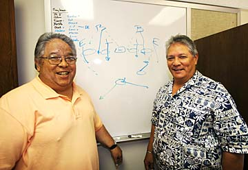 Brothers Ron and Cal Lee during their years on the University of Hawaii staff. (Dennis Oda / Star-Advertiser)