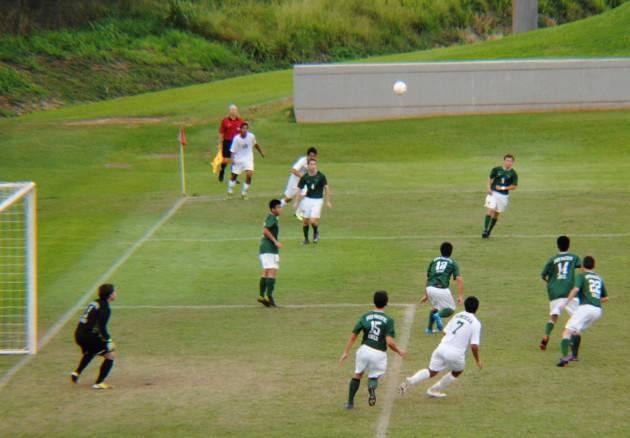 Mid-Pacific stopped Honokaa's first corner kick