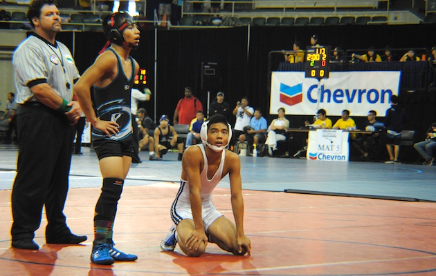 Cody Cabanban of Saint Louis is the first wrestler through to the final