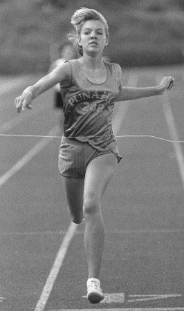 Jill Carrier was on three different winning relay teams for Punahou in the 1980s.