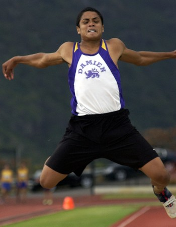 Damien's Kealoha Pilares repeated in the triple jump in 2005 and 2006. Photo by FL Morris.
