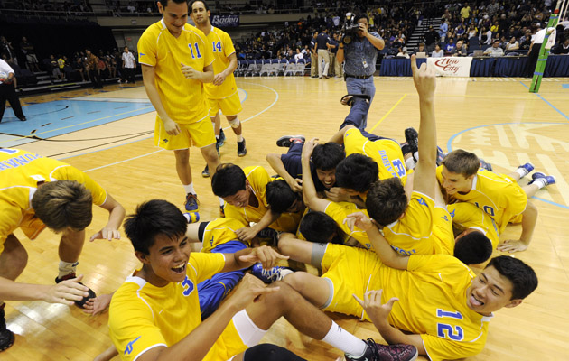 Punahou celebrated its third consecutive boys volleyball state championship