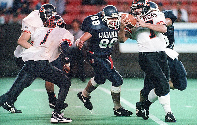 Waianae held Campbell to just three points to win the OIA title in 1996. Photo by George Lee / Star-Bulletin