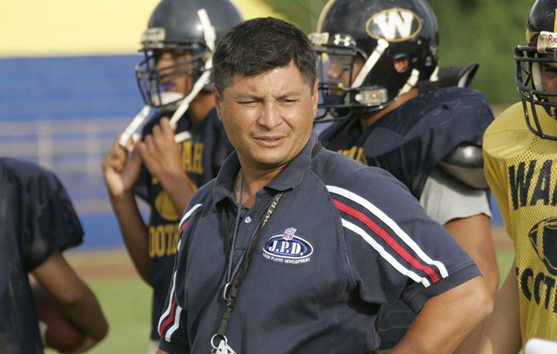 Football assistant Saturnio spreads aloha